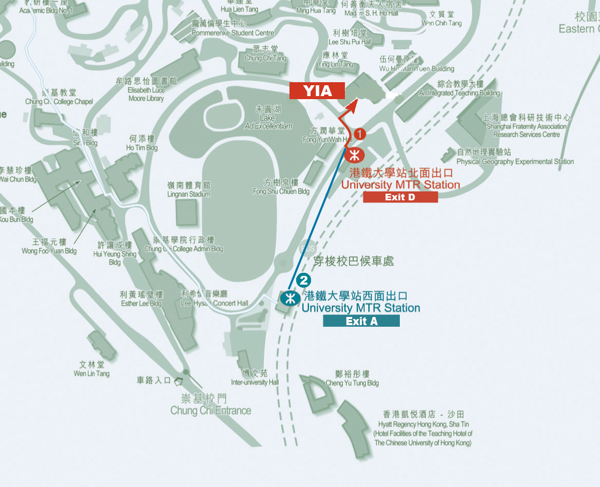 walking route from MTR