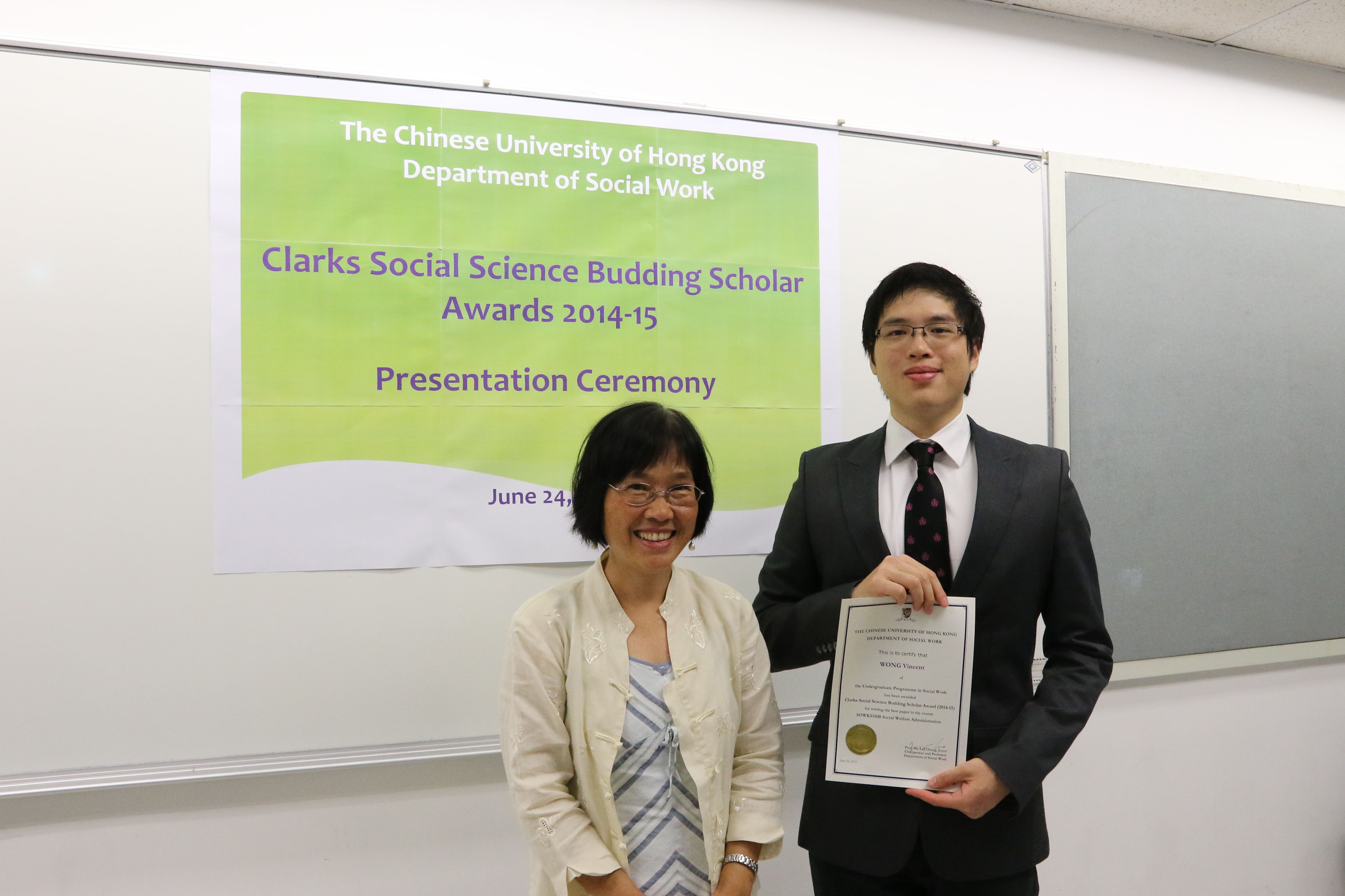 vincent wong (left) and mr. lawrence chiu (right).